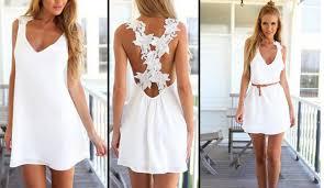 white summer dress size 6 summer backless dress 60