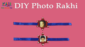 easy photo rakhi craft for kids how to make art and craft