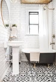 10 spectacular bathrooms with encaustic cement tile ramsle glam regarding black and white bathroom remodel 11