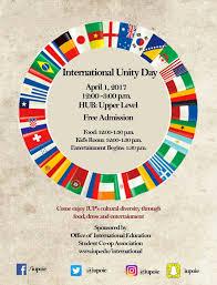 Iup Map International Unity Day 2017 News International Education Iup