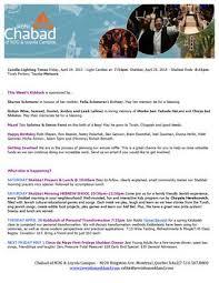 weekly newsletter april 23 2015 by yisroel bernath issuu