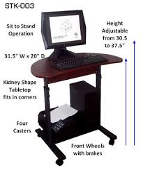 Height Of A Computer Desk S 003 32 Sit Stand Height Adjustable Computer Desk