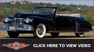 1942 lincoln continental cabriolet sold youtube