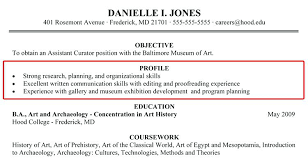 examples of resume profile statements sample resume profile