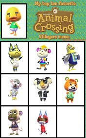 Animal Crossing Villager Meme - top 9 favorite animal crossing villagers meme by safoochan on