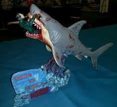 not sure who to cheer for jason vorhees vs jaws diorama statue