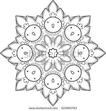 beautiful mandala pattern creative ornament repeating stock vector