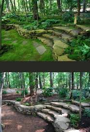 Slope Landscaping Ideas For Backyards Wooded Backyard Landscape Ideas Backyard Image Result For