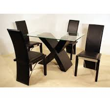 dining room black color applied in small dining sets finished with glass table design for luxurious dining room interior design idea fantastic small