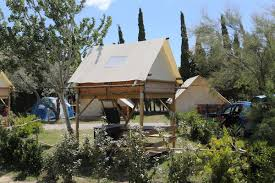bivouac under the stars rent of new mobile homes on campsite by