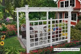 pergola with trellis pergola privacy trellis new england arbors