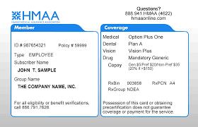view sample member id card hmaa