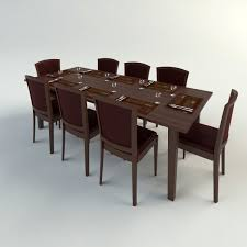 Dinner Table Chairs by Table Chairs 3d Model