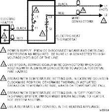 honeywell line voltage thermostat wiring diagram wiring diagram