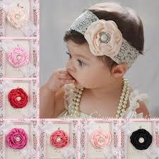 lace headwear infant flower pearl headbands girl lace headwear kids baby