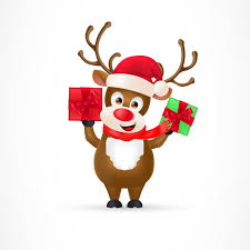 christmas reindeer christmas reindeer character vector free