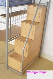 Bunk Bed With Stairs And Drawers Bunk Bed Storage Steps Fpudining