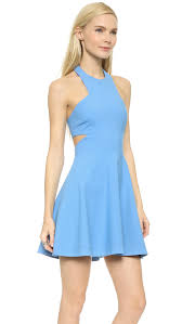 elizabeth and james darrien cutout dress delft blue in blue lyst