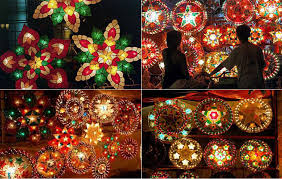 parol decoration lights card and decore