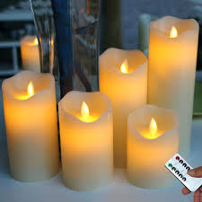 plastic led candles the most realistic flameless 5 piller candle