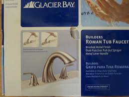 Glacier Bay Pull Out Faucets by Glacier Bay Builders 2 Handle Deck Mount Roman Tub Faucet Brushed