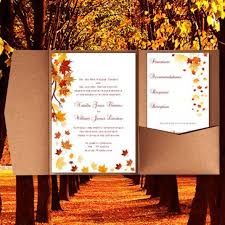 fall wedding invitations wedding invitation templates fall themed wedding invitations fall