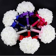 wedding flowers royal blue 2016 artificial bridal flowers bouquet wedding
