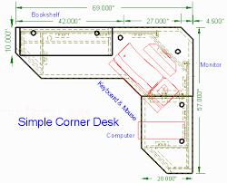 Corner Desk Plan Woodware Simple Corner Computer Desk 0 5 Mdf