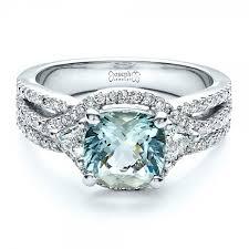 aquamarine and diamond ring custom aquamarine and diamond ring 1445
