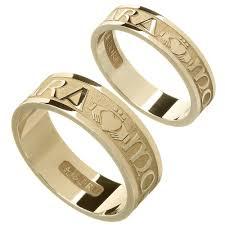 anam cara symbol rings yellow gold mo anam cara my soul mate wedding ring