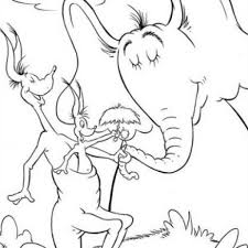 horton hears a who coloring page line drawings 2860