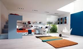 kinderzimmer gestalten jungen jugendzimmer einrichten blau orange junge einbauleuchten zimmer