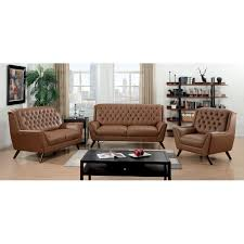furniture of america valentino 3 piece mid century modern bonded furniture of america valentino 3 piece mid century modern bonded leather sofa set