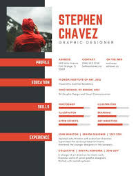 Graphic And Web Designer Resume Red And Dark Gray Graphic Designer Resume Templates By Canva