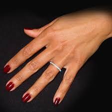 eternity ring finger diamond eternity ring in 14k white gold 0 72 ct tw 3333