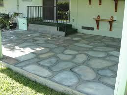 Faux Painted Floors - paint cement patio floors to look like cobblestones decorative