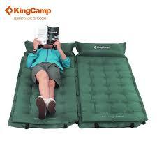 si e auto gonflable kingc confort auto gonflant cing mat avec joint oreiller pour
