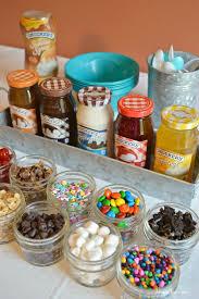 sundae bar toppings build your own sundae bar bar birthdays and birthday party ideas