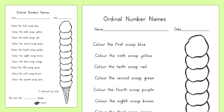 number ice cream colouring worksheet food order sort