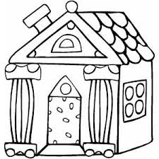 coloring page of a house online gingerbread house printable free