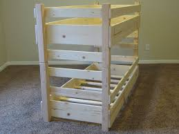 Wood Bunk Bed Plans 44 Wooden Beds For Solid Wood Bunk Bed For Children