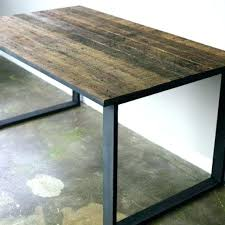 reclaimed wood desk for sale wood table tops for sale desk modern industrial dining table desk