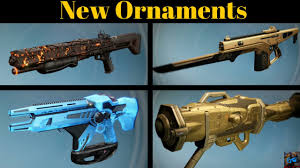 destiny previewing all the new ornaments in rise of iron