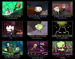 Invader Zim Memes - invader zim alignment by chopsilverblood on deviantart funny