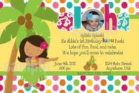 Sample Of 7th Birthday Invitation Card Luau Birthday Invitations Plumegiant Com