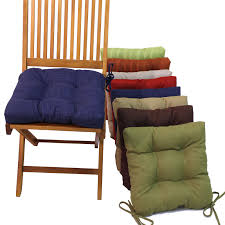 Outdoor Furniture Cushions Blazing Needles 16 In Square Outdoor Chair Cushions With Ties