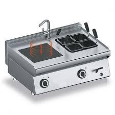 a induzione piano di cottura station con piano di cottura a induzione e cuocipasta eletrico