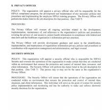 hipaa policies and procedures templates template idea