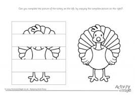 printable turkey cutout turkey printables