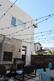 Outside Patio String Lights Outdoor Style How To Hang Commercial Grade String Lights Patio